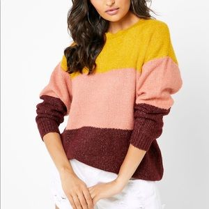 Forever 21 Oversized Colourblock Sweater